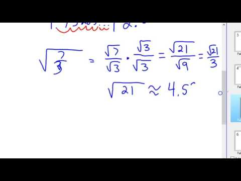 Why rationalize the denominator