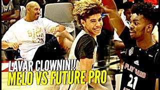 LaMelo Ball TRIPLE DOUBLE vs Future NBA Pro! LaVar Doing SIT UPS During GAME!! Wtf 😂💀