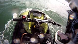 How NOT to start (and end) a day of wave jumping... almost sinking of a Seadoo RXP