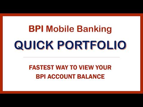 BPI Quick Portfolio   Fastest Way to do BPI Balance Inquiry
