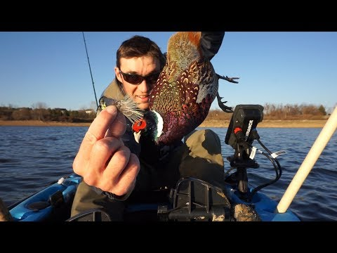 Spontaneously Using Fresh Pheasant to Catch Crappie! Jigging w/ Plastic's and Feather Jig