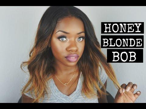 How To Get A Honey Blonde Color Bob & Initial Review   VirginHairfixx