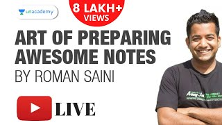 Art of Preparing Awesome Notes by Roman Saini