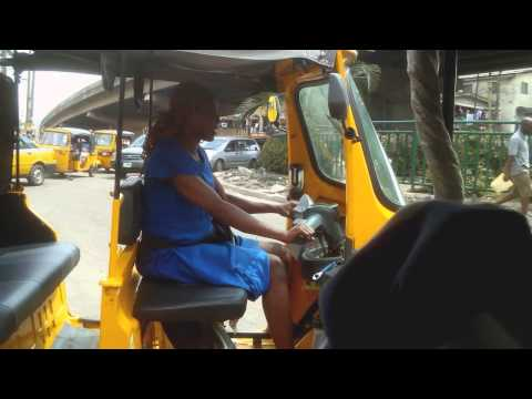 RARE FEMALE KEKE NAPEP RIDER SPOTTED IN LAGOS