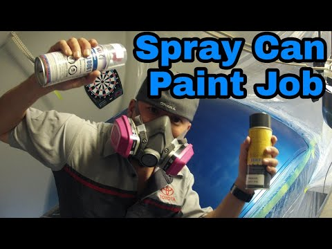 Flipping A Silverado - Episode 3 | Painting With Spray Cans Spraymax 2k Clear Coat Fix Faded Paint