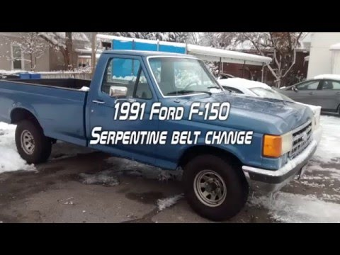 1991 ford f-150 belt change