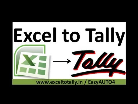 Import Sales Voucher from Excel to Tally.Erp9