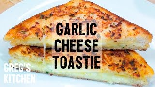 GARLIC BREAD CHEESE TOASTED SANDWICH - Food for Stoners - Greg's Kitchen