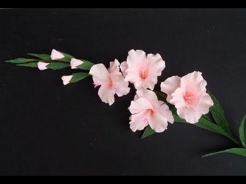 How To Make Gladiolus Flower From Crepe Paper - Craft Tutorial