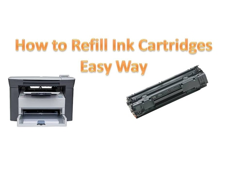 How to refill ink cartridges of HP m1005