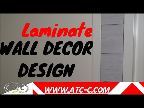 Recycle laminate - wall decor // How to/ DIY  ideas