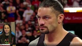 WWE Raw 4/9/18 Samoa Joe Returns to call out Roman Reigns