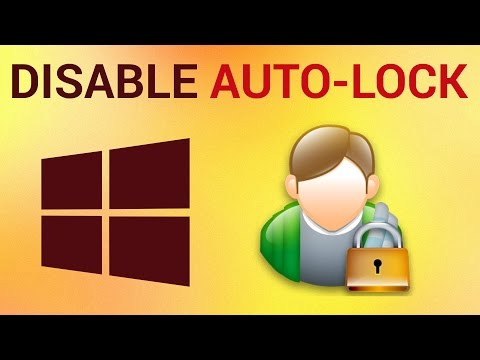 How to Disable Auto Lock in Windows 7