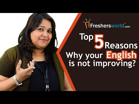 Top 5 reasons why your English isn't improving - How to improve English speaking?