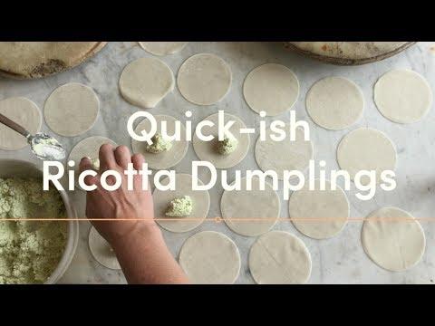 Quick-ish RICOTTA DUMPLINGS  in Tomato Broth