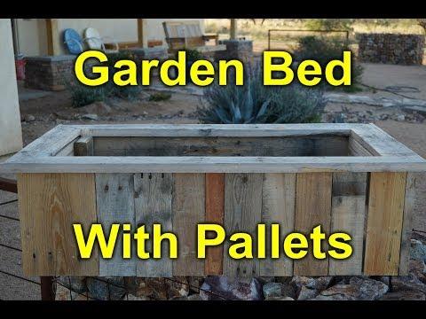 Rustic Garden Bed Built with Pallet Wood