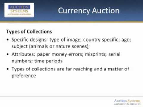 Currency Auction:  The Growing Hobby of Collecting Paper Money