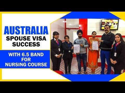 Australia Spouse Visa with 6.5 Band for Master of Nursing