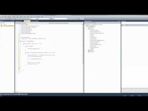 C# - Excel - How to create simple Excel file programmatically (Visual Studio 2010)