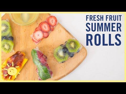 EAT | Fresh Fruit Spring Rolls