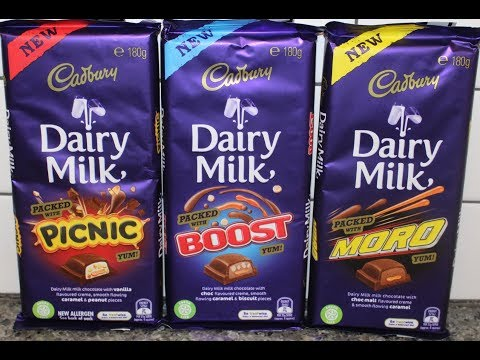 Cadbury Dairy Milk: Packed with Picnic, Packed with Boost, Packed with Moro Candy Bar Review