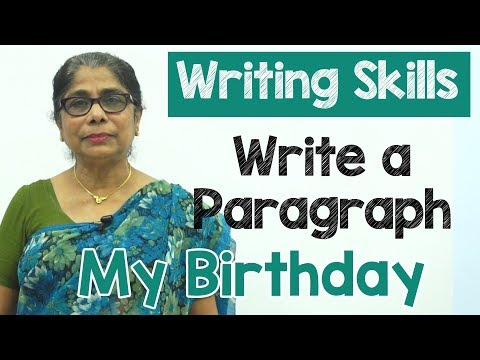 How to Write a Paragraph about My Birthday in English | Composition Writing  | Reading Skills