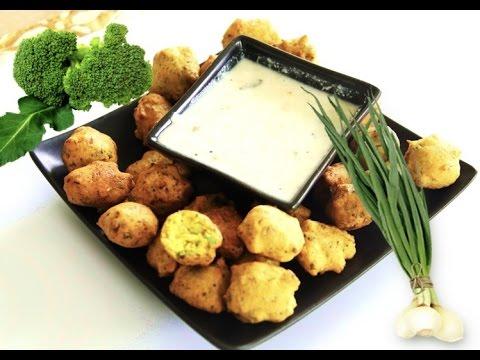 Broccoli Corn Flour Fritters Video Recipe | Bhavna's Kitchen