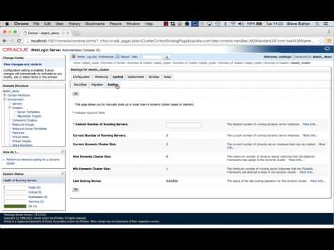 WebLogic Server 12.2.1 - Elastic Cluster Scaling using WebLogic Administration Console