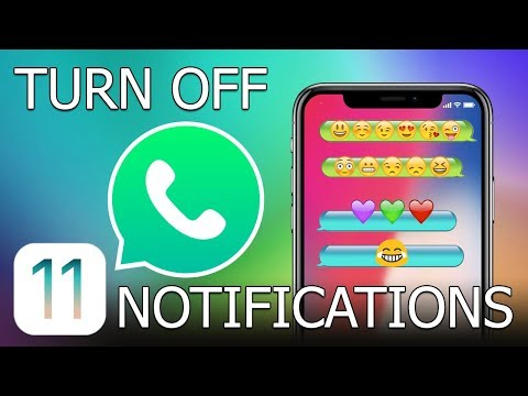 How to turn off notifications for a chat in WhatsApp for iPhone (iOS 11)