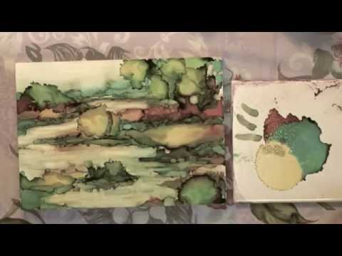Alcohol Ink: Painting a Landscape