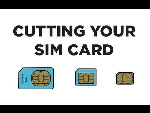 Cut your SIM Card into a NanoSIM Card WITH Printable Template - iPhone 5