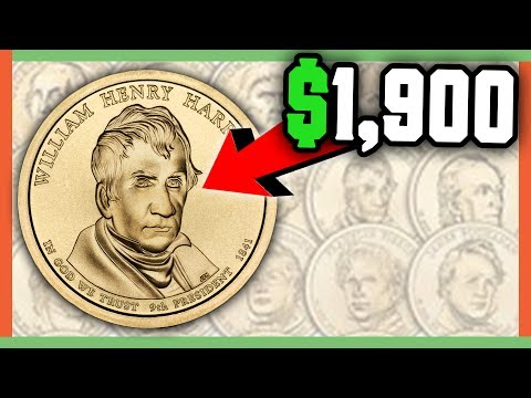 RARE PRESIDENTIAL DOLLAR COINS WORTH MONEY - GOLD DOLLARS WORTH MONEY!!