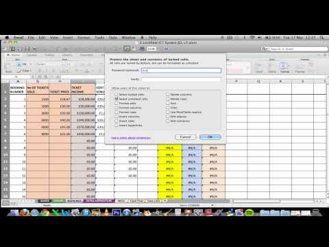 Excel Mac 2011 - Cell Protection Tutorial