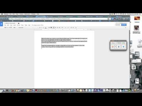 How to make hanging indent on google docs