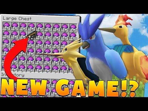 LEGENDARY Minecraft PIXELMON CRANE GAME MOD CHALLENGE - Pokemon Modded Battle Minigame