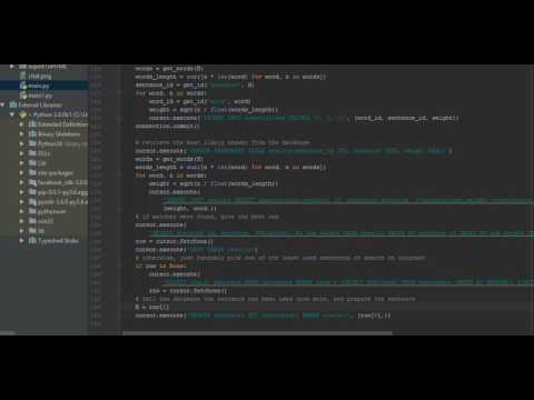 Simple Learning ChatBot - Python
