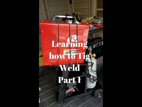 Learning how to Tig Weld Step #1 Setting up the Welder.