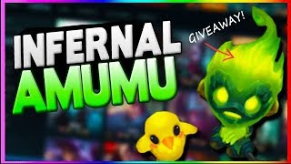 INFERNAL AMUMU AP JUNGLE! (& EXCLUSIVE SKIN GIVEAWAY) - League of Legends