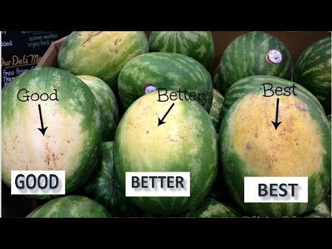 How to Pick a Perfect Watermelon ||The Best Way to Pick a Watermelon