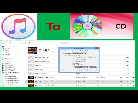 [Hindi] How to Burn Songs From itune to CD | How to take songs from itune libeary and burn CD or DVD