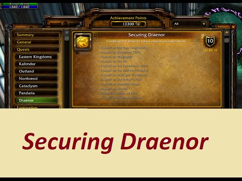 How to Complete Securing Draenor in a Faster Way - World of Warcraft