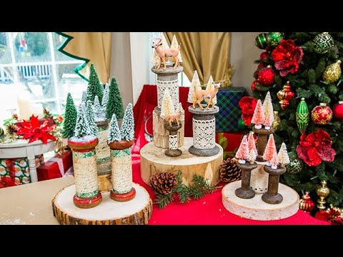 DIY Christmas Spool Trees - Home & Family