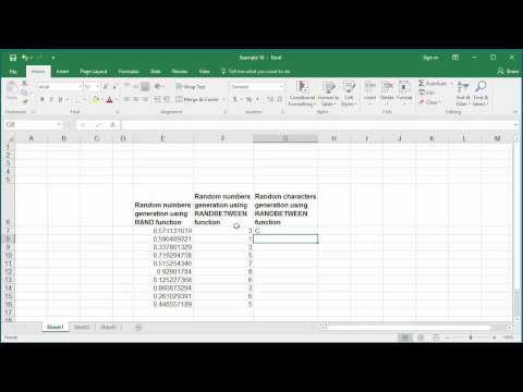 How to Generate Random Numbers and Characters using RAND and RANDBETWEEN functions in Excel 2016