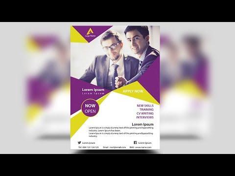 Creative corporate flyer design | Photoshop Tutorial