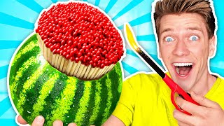 7 Genius Life Hacks Put To The Ultimate Test - Orbeez Pool Obstacles & How To Survive for 24 Hours