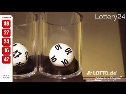 2018 05 26 German lotto 6 aus 49 numbers and draw results