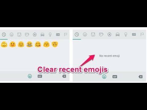 Very Easy and Interesting way to Delete Emoji History in WhatsApp