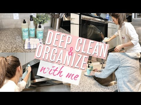 DEEP CLEAN AND ORGANIZE WITH ME // CLEAN WITH ME 2018 // EXTREME CLEANING MOTIVATION // KITCHEN