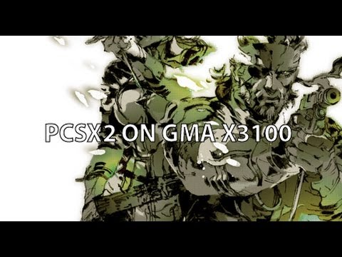 Metal Gear Solid 3 Snake Eater (PCSX2 beta r3878) on GMA x3100