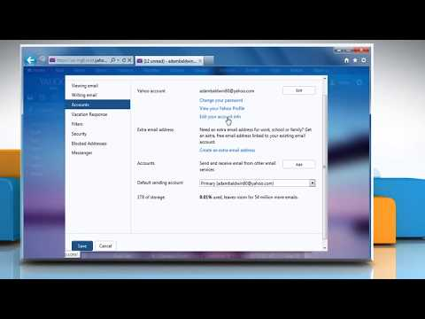How to Change Primary alternate Email Address for a Yahoo!® account